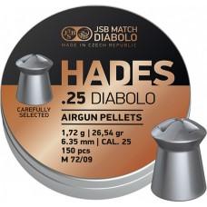 JSB Hades 6.35 mm, 1.72 g (300 шт.)