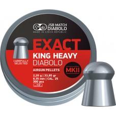 JSB Exact King Heavy MKII 6.35 mm, 2.2 g (300 шт.)