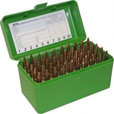 MTM R-50 Flip-Top Rifle Ammo Box Medium Mag Green